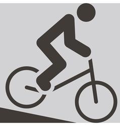 cycling BMX icon vector image