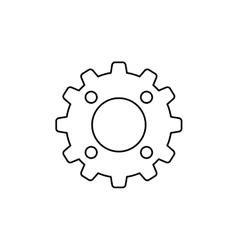 Gear industry machinery vector