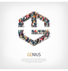 genius people sign 3d vector image