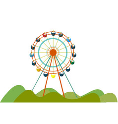 Giant ferris or color vector