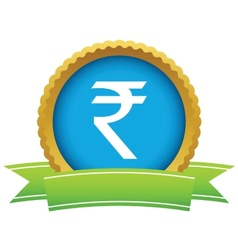 Gold rupee logo vector