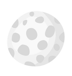 golf ball cartoon vector image