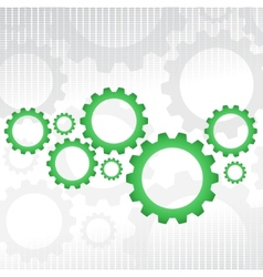 Green gears vector image