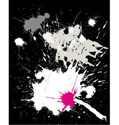 grunge black background with splats vector image