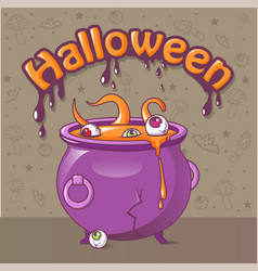 halloween concept background cartoon style vector image