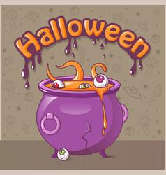 Halloween concept background cartoon style vector