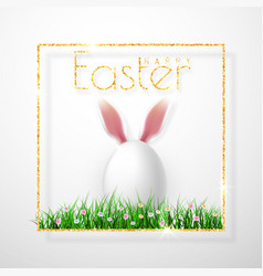 happy easter realistic easter eggs isolated on a vector image