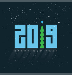 happy new year 2019 greeting card design template vector image