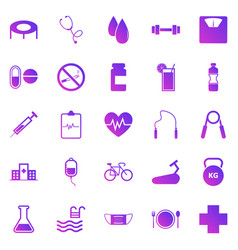 health gradient icons on white background vector image