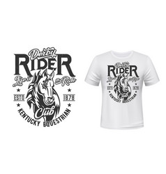 Horse stallion t-shirt print equestrian sport vector