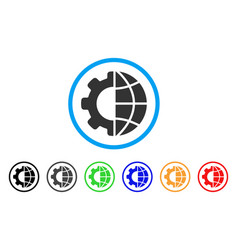 international manufacture rounded icon vector image