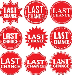 Last chance red label chance red sign vector
