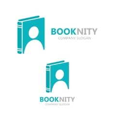 Logo combination of a book and man vector
