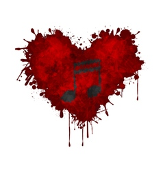 Music in the heart vector