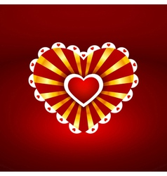 one heart to another vector image