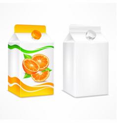Orange juice package vector