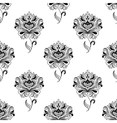 Paisley seamless floral pattern vector