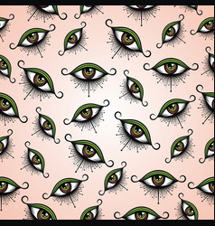 pattern with eyes vector image
