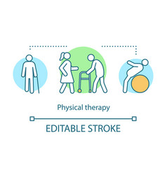 Physical therapy concept icon vector