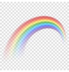 Rainbow icon realistic 3 vector image