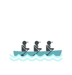 Rowing race icon vector