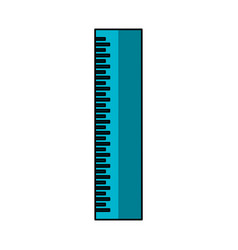 Ruler school supply icon vector