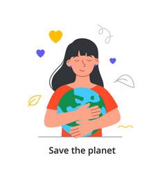 saving planet concept vector image