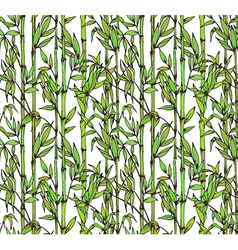 seamless pattern with bamboo branches vector image