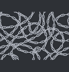 Seamless pattern with old chains vector