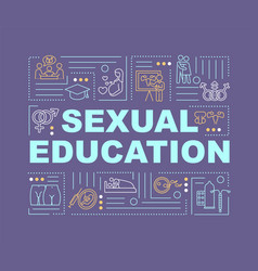 Sexual education word concepts banner vector