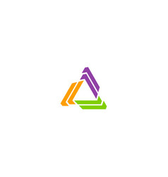 shape circle colored triangle logo vector image