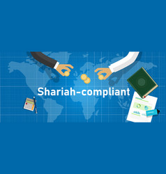 Shariah compliant concept compliance with vector