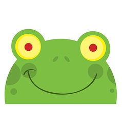 Smiling Frog Face vector