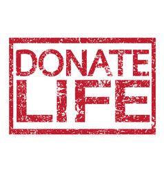 stamp text donate life vector image