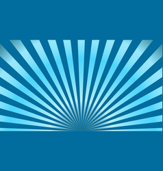 sun rays background blue radiate sun beam burst vector image