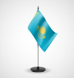 Table flag of Kazakhstan vector image