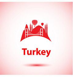 turkey detailed silhouette trendy vector image