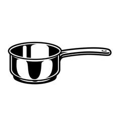 vintage cooking saucepan concept vector image