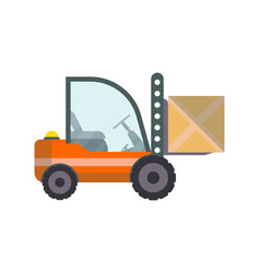 warehouse forklift truck isolated icon vector image