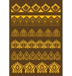 Arabesque borders with persian floral ornaments vector image vector image