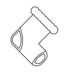 baby socks cartoon vector image vector image