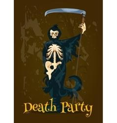 Halloween Death Party banner vector image