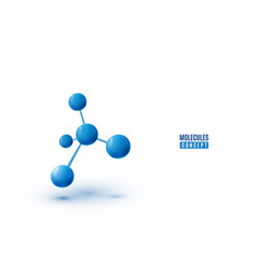 molecule design isolated on white background vector image
