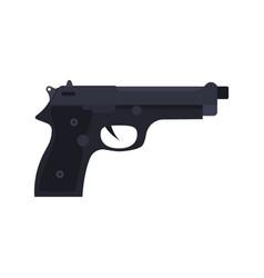 police pistol icon gun handgun weapon isolated vector image