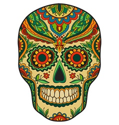 Print mexican traditional scull vector image