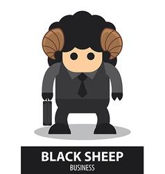 Black sheep business cartoon vector image