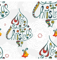 Merry christmas congratulation seamless pattern vector image vector image