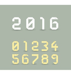 Origami 2016 vector image