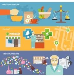 Pharmacist banner set vector
