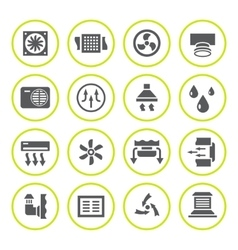 Set round icons of ventilation and conditioning vector image vector image